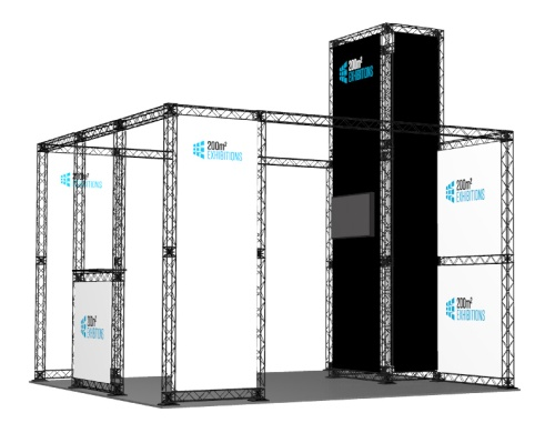 modular exhibition stands from 200m2