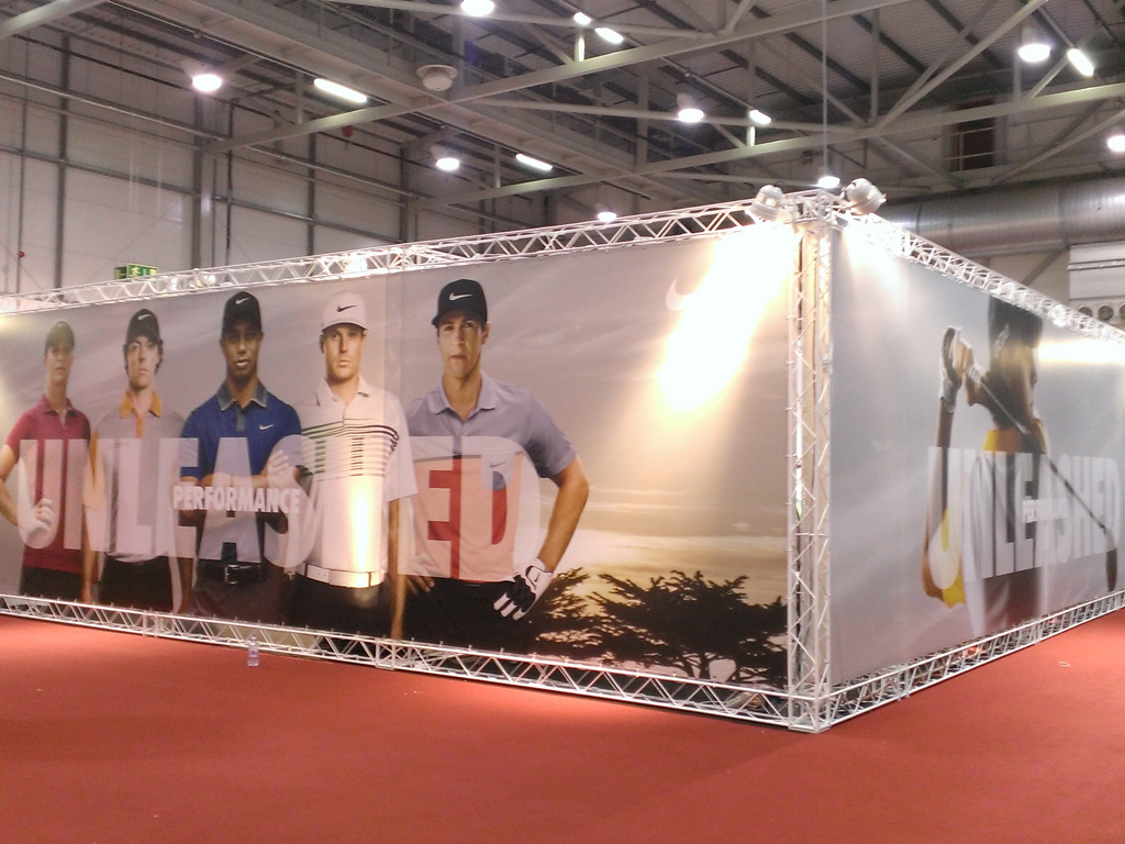 Large scale exhibition display panel for Nike