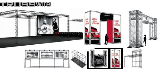 Trusswire exhibition stands
