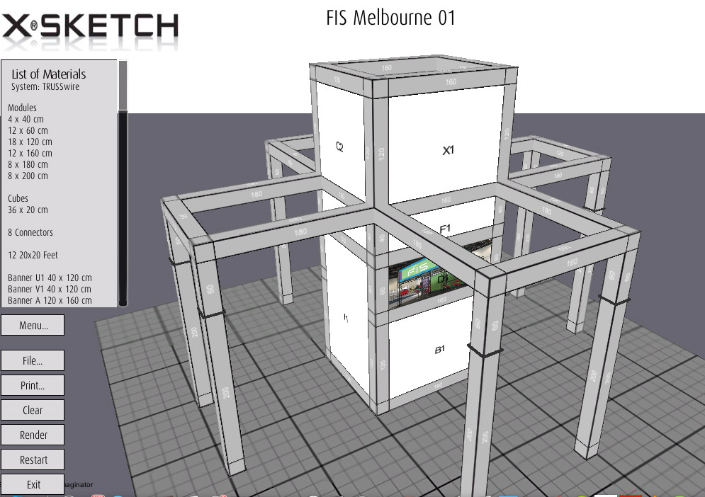 X Sketch 3d Exhibition Stand Design Software 200m2