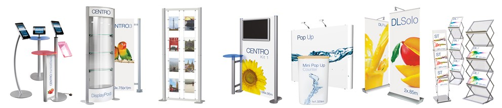 A variety of portable display banners