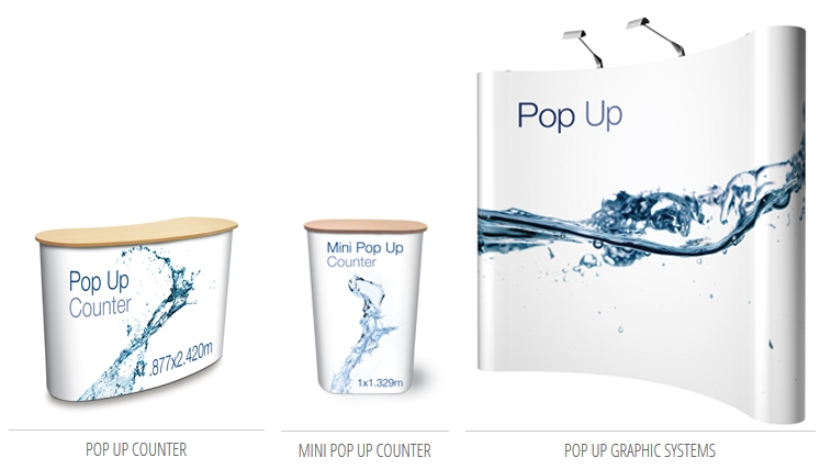 Pop up Counter and Banner Systems