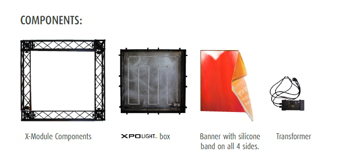 X-Po exhibition light components
